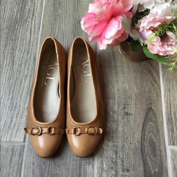 0852b82c89f Agl Shoes - AGL Attilio Giusti Leombruni Camel Tan Flats